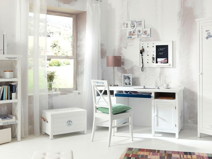 Texturile fluide amintesc de briza placuta a marii. Birou Saint Tropez, 1.399 lei #kikaromania #mobilier #decoratiuni #stilmarin