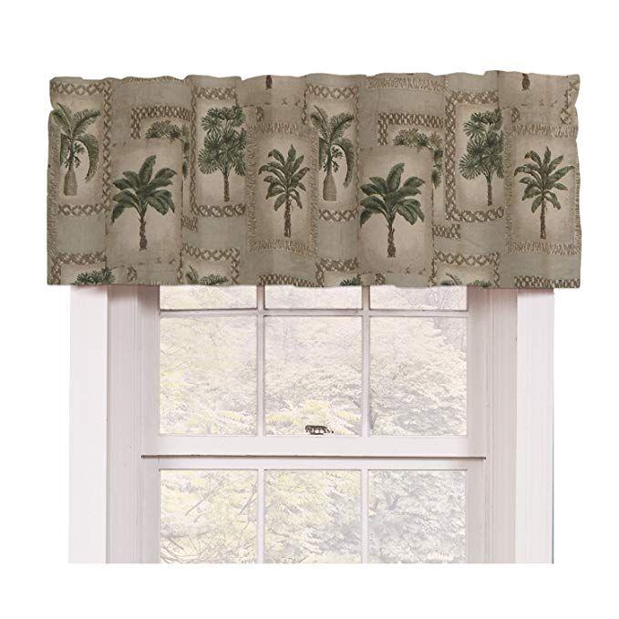 Palm Tree Tropical Valance Review Tropical Valances Valance Tropical Theme