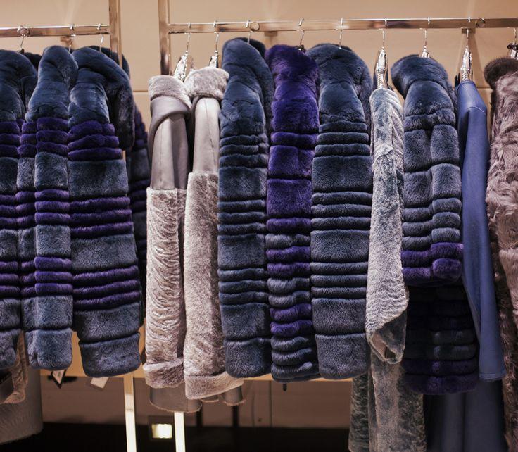 Rex blue coat by ADAMOFUR #fur #shopping #furstyle #rabbitcoat