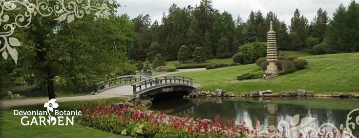 Devonian Botanic Garden, 15 minutes southwest of Edmonton with 240 acres