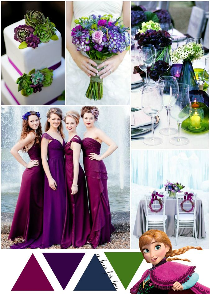 9 best disney themed weddings images on pinterest color Navy purple color