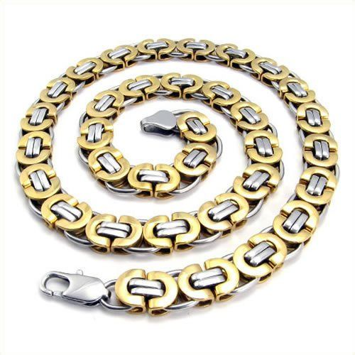 Men's Necklaces   - Pin it :-) Follow us .. CLICK IMAGE TWICE for our BEST PRICING ... SEE A LARGER SELECTION of men's necklaces   at  http://azgiftideas.com/product-category/mens-necklaces/   - gift ideas , gift ideas for men  , mens, mens jewerly   -  KONOV Jewelry Men's Stainless Steel Necklace Chain - Gold Silver - Length 22 inch