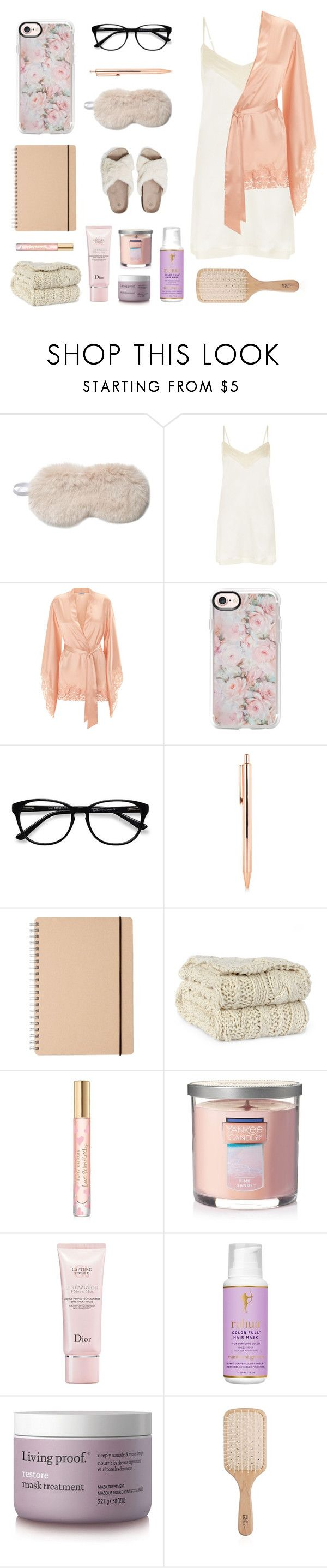"""""""Sleep In: Lazy"""" by hazelannf ❤ liked on Polyvore featuring Fabulous-Furs, La Perla, Casetify, EyeBuyDirect.com, Tory Burch, Yankee Candle, Christian Dior, RAHUA, Living Proof and Philip Kingsley"""