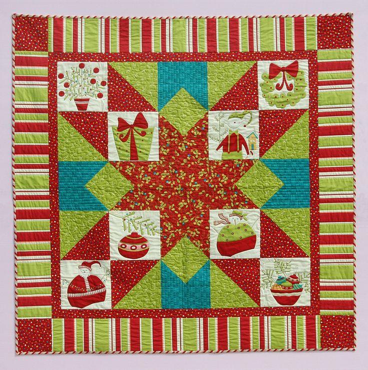 Line Art Quilt Pattern Holly Hickman : Best christmas quilt images on pinterest block