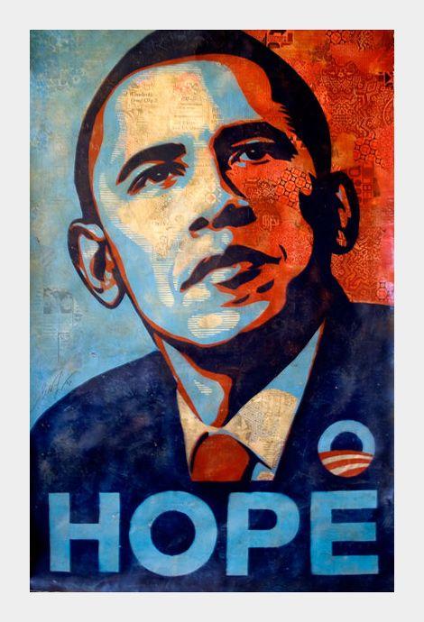 Original Shepard Fairey Obama Poster