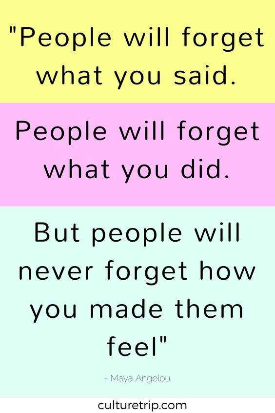 """People will forget what you said"" - Maya Aneglou Quote."