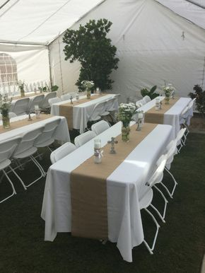 The yute with the white table cloth is white, clean, and crisp. I love it!