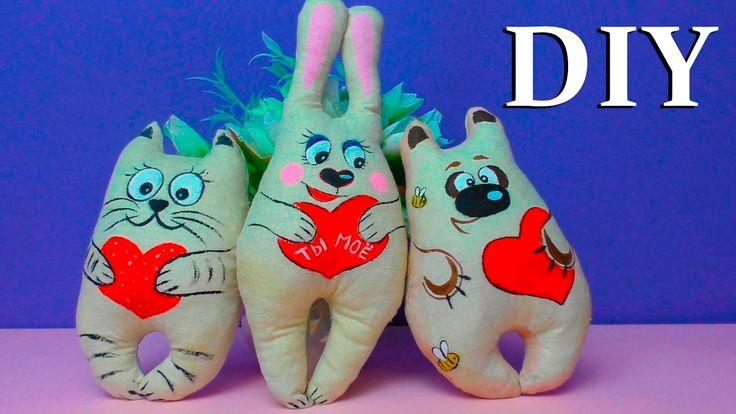 Игрушка валентинка своими руками / Подарок любимому своими руками /Игруш...