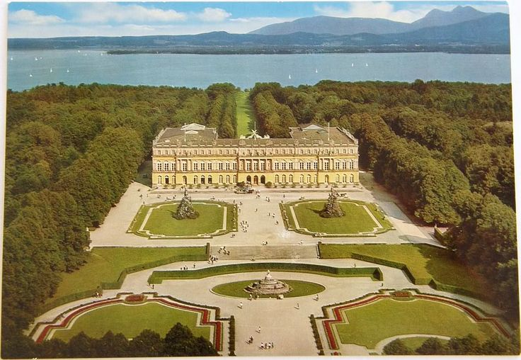 Herrenchiemsee Castle in Bavaria, Germany.  On an island in Lake Chiemsee, accessed only by boat and then a carriage ride!  King Ludwig modeled this after the French palace of Versailles. Loved this one!!!