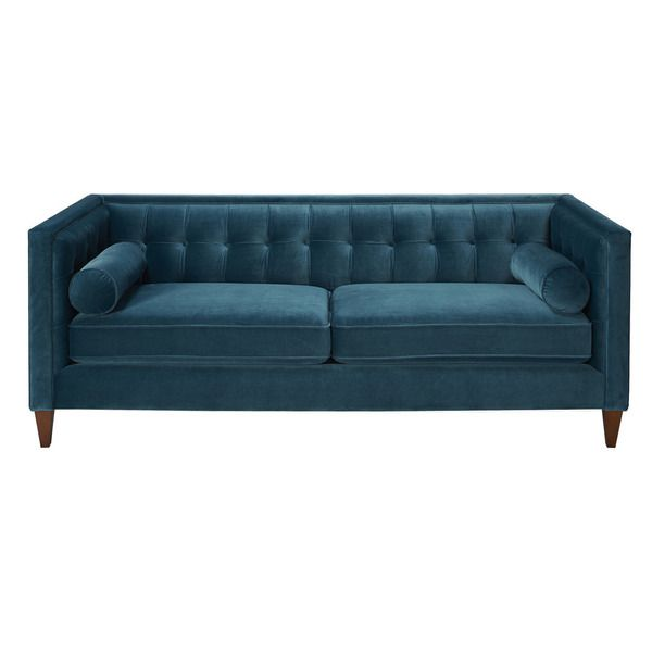 Jennifer Taylor Teal Tufted Sofa Ping Great Deals On Sofas Loveseats