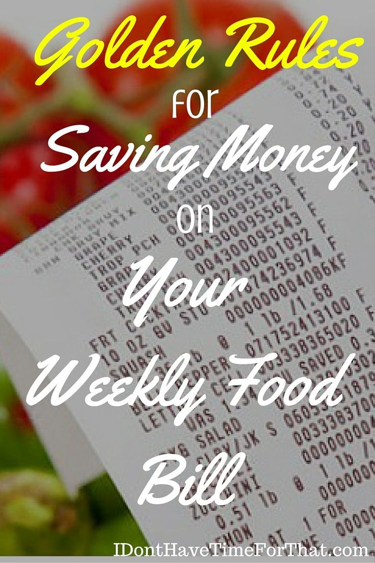8 Golden Rules for Saving Money on Your Weekly Food Bill