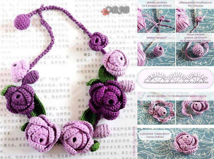 Collier au crochet Plus