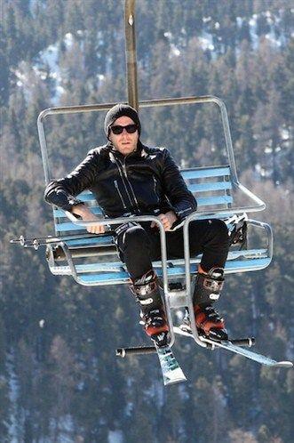 Lapo Elkann, skiing in St. Moritz