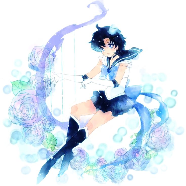 Sailor Mercury  - sailor-mercury Fan Art OMG. I havent seen this in the longest time!!