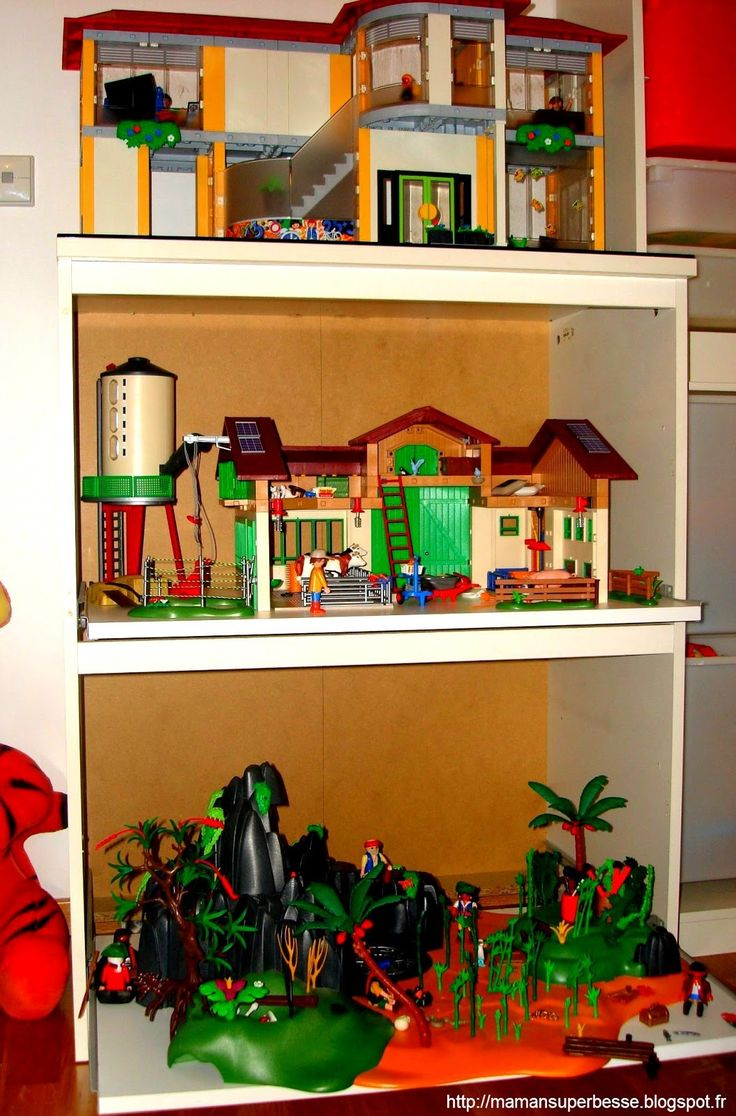les 25 meilleures id es de la cat gorie rangement playmobil sur pinterest les chambres d. Black Bedroom Furniture Sets. Home Design Ideas