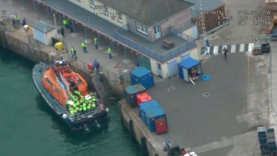 (Video) Fifty people were rescued from a ferry near the Isles of Scilly, the southernmost location in England, on Sunday. http://maritime-executive.com/article/fifty-people-rescued-from-flooding-ferry