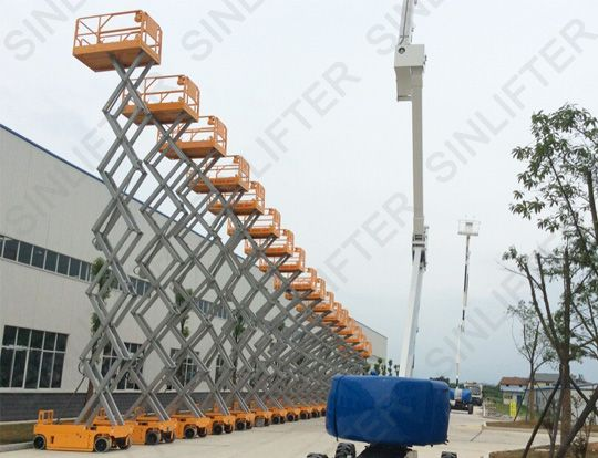 scissor lift is composed by electric scissor lift and diesel scissor lift. Featured by stability, flexible movement and powerful grade ability. (www.sinolifter.com) Skype: mf.sinicmech.com Email: mf@sinicmech.com