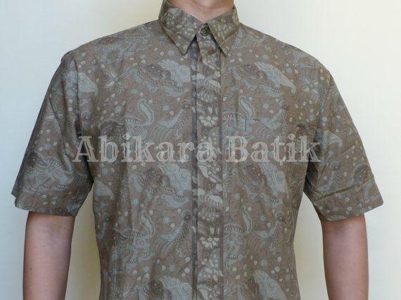 Javanese Animal Floral Patterned Shirt  by Abikara on Etsy