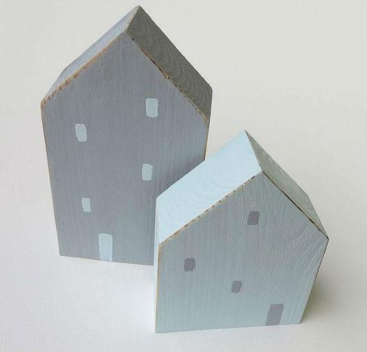Domki drewniane ręcznie malowane