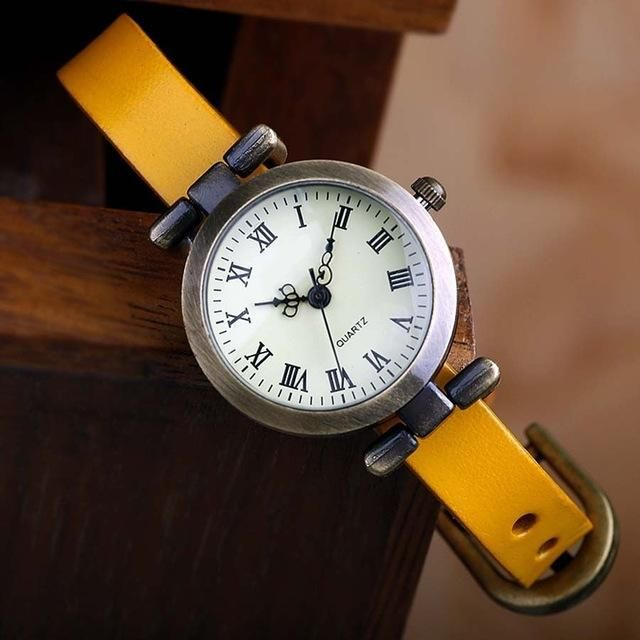 Hot Selling Leather Vintage Watch
