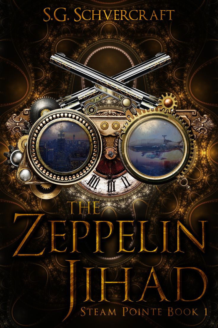 Steampunk fantasy book cover design deranged doctor design