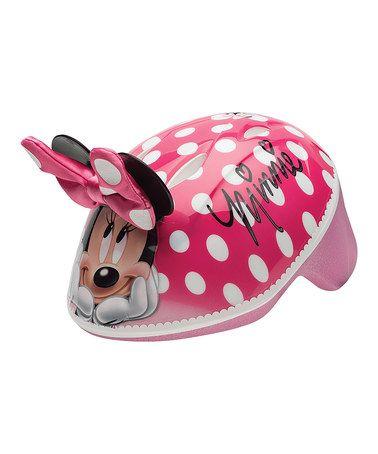 Loving this Minnie 3-D Toddler Bike Helmet on #zulily! #zulilyfinds