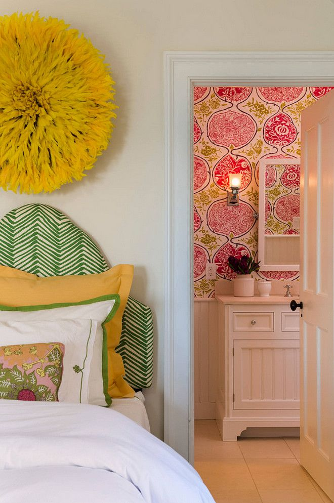 17 Best Ideas About Wallpaper Headboard On Pinterest