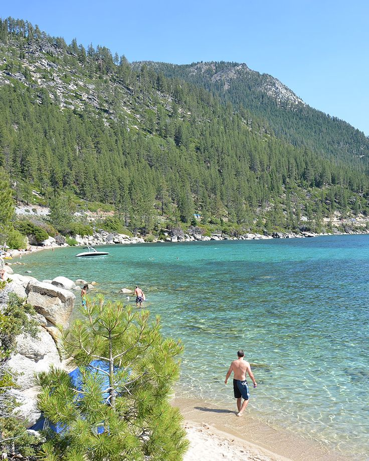 Lake Tahoe Hidden Beach is south of Incline Village and offers a wonderful escape to one of Lake Tahoe's best beaches. The clear water, granite boulders and clean sandy beach will keep you coming back for more. Trails give access to this Tahoe beach and bathrooms open during the summer.