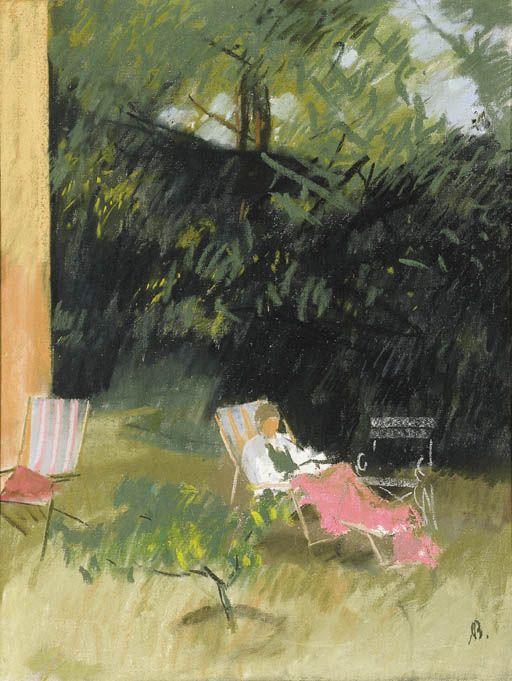 poboh:  In a Garden, Aurél Bernáth. Hungarian (1895 - 1982)