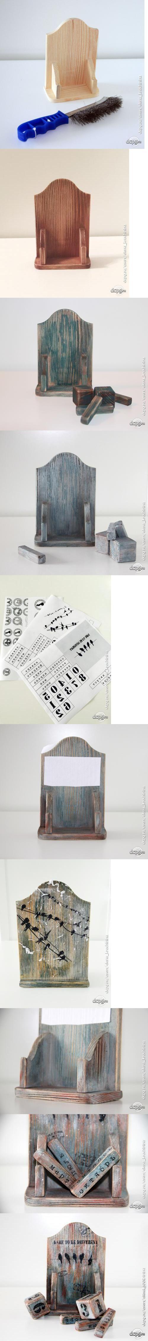 "Декупаж - Сайт любителей декупажа - DCPG.RU | Мастер-класс ""Календарь в стиле лофт"""