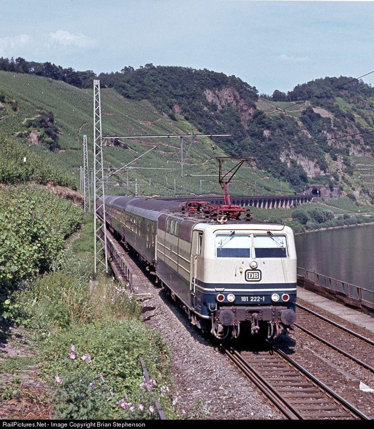 181 222-1 Deutsche Bundesbahn BR 181 at Punderich, Germany by Brian Stephenson