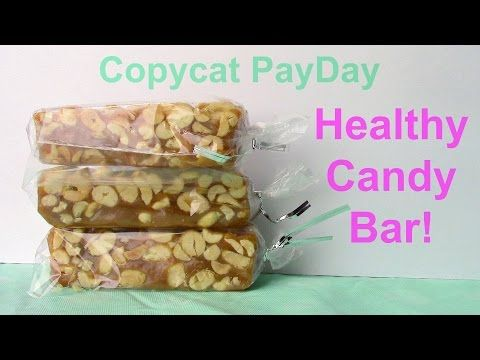 CLEAN EATING Copycat Payday candy bar! (Gluten Free, Dairy Free, Refined Sugar Free) - YouTube
