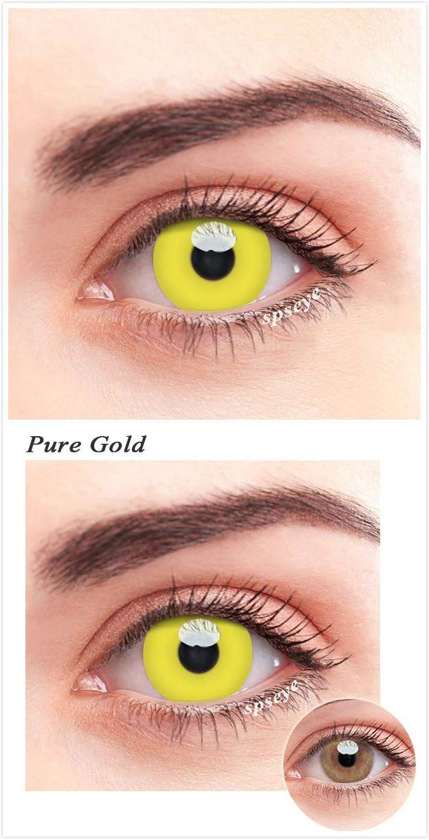 Spseye Pure Gold Colored Contact Lenses Contact Lenses Colored Contact Lenses Colored Contacts