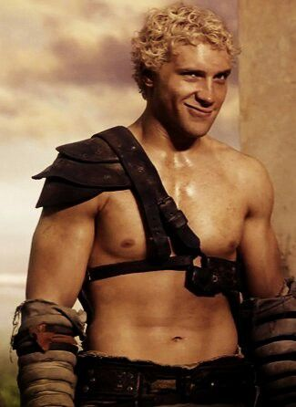 Jai Courtney as Varro in Spartacus...that smirk...ovaries explode