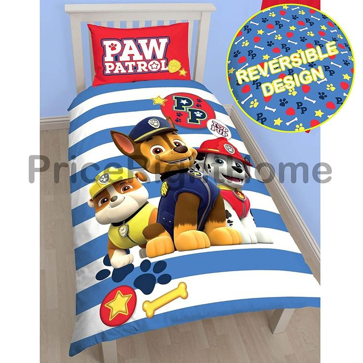 Paw Patrol Pawsome Single/US Twin Duvet Cover and Pillowcase Set //Price: $19.60 & FREE Shipping //     #hashtag3