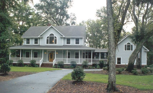 This spacious four bedroom farmhouse style home is for House with wrap around porch floor plan