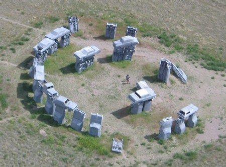 Carhenge, la Stonehenge fatta di vecchie automobili d'epoca! Alliance, Nebraska USA