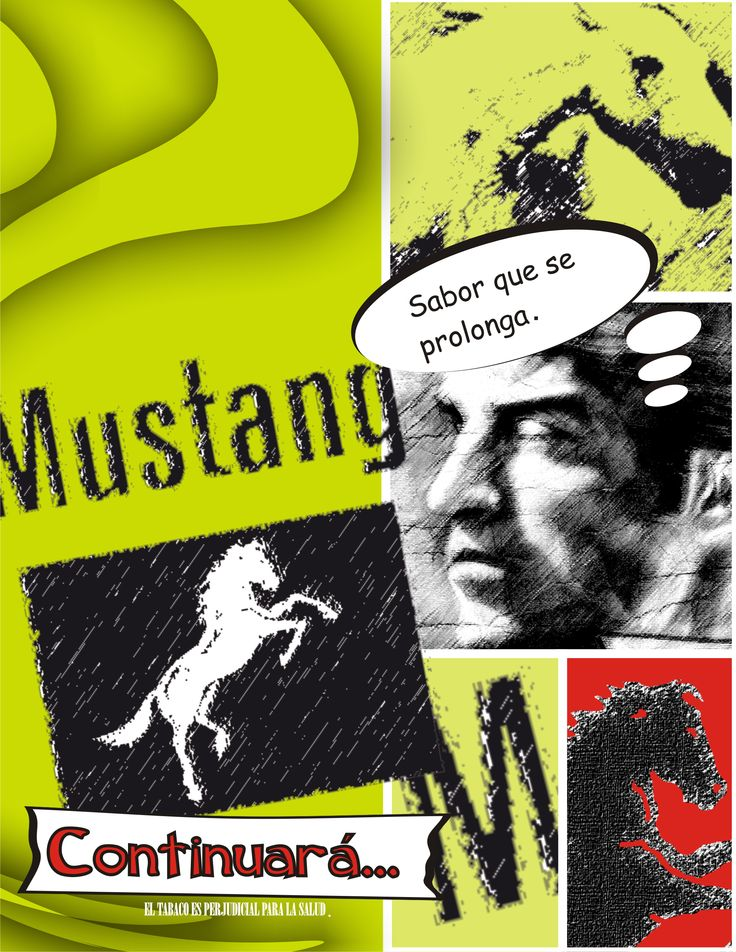 Afiche Mustang Comics