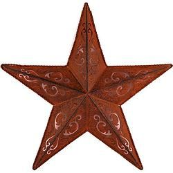 "Rust With Black Tone Lacy Star 12"" - $13.99"