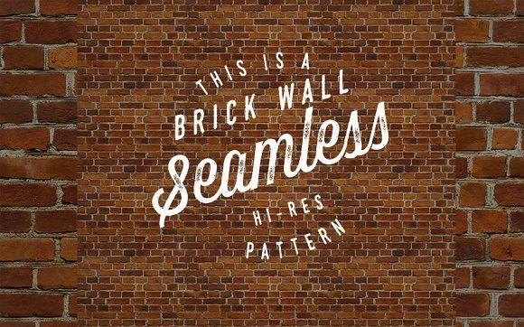 Seamless red brick wall pattern. Patterns