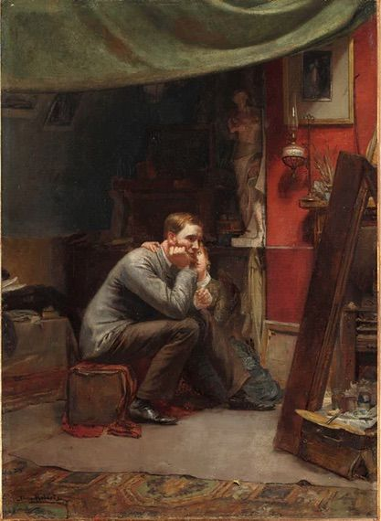 The Tom Roberts painting Rejected could be worth a small fortune after being bought for $15,000 in 2013. The Rejected painting tells a story of an artist in a studio being consoled by his wife because his painting has been turned down for an exhibition.