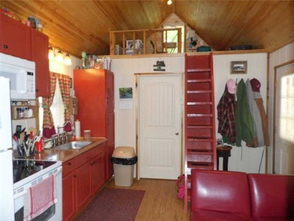 tiny home on homestead near eureka springs ak for sale 007 600x450   416 Sq. Ft. Whimsical Tiny Home on 2.79 Acres for Sale