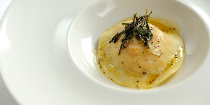 Esteemed chef, Andrew Mckenzie, creates a simple pasta dish by filling homemade ravioli with butternut squash and serving with a sage butter sauce
