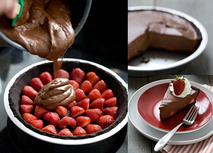 This No Bake Chocolate Strawberry Pie is Impossible to Resist