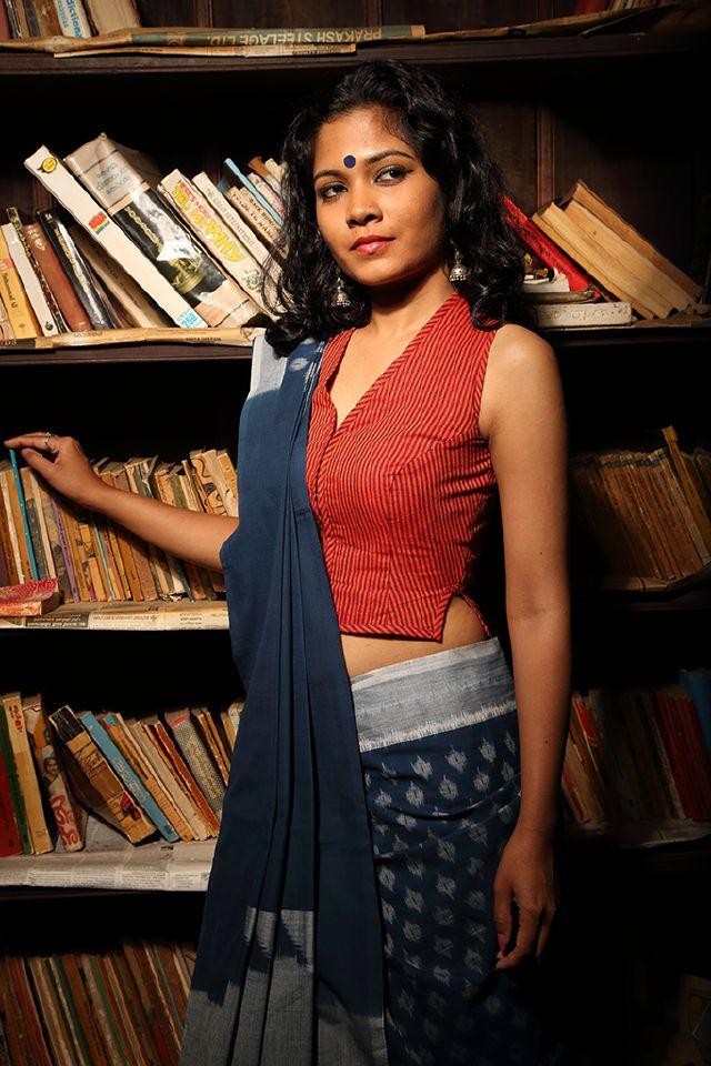 Ezhuthukaari sleeveless blouse
