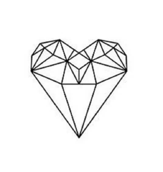 best 25 diamond heart tattoos ideas on pinterest cool