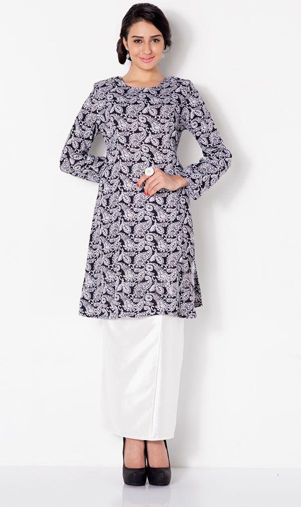 First Lady Paisley Mix modern Baju kurung