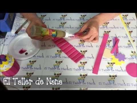 Cupcake de goma eva   Todo en GOMA EVA