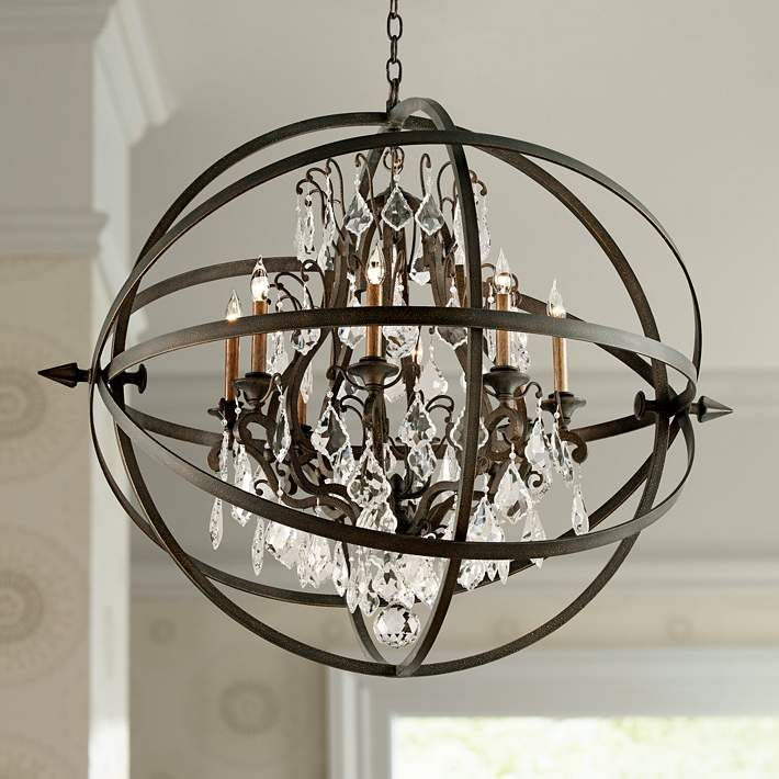 "Bryron 41 1/2"" Wide Vintage Bronze Chandelier - #2X851 