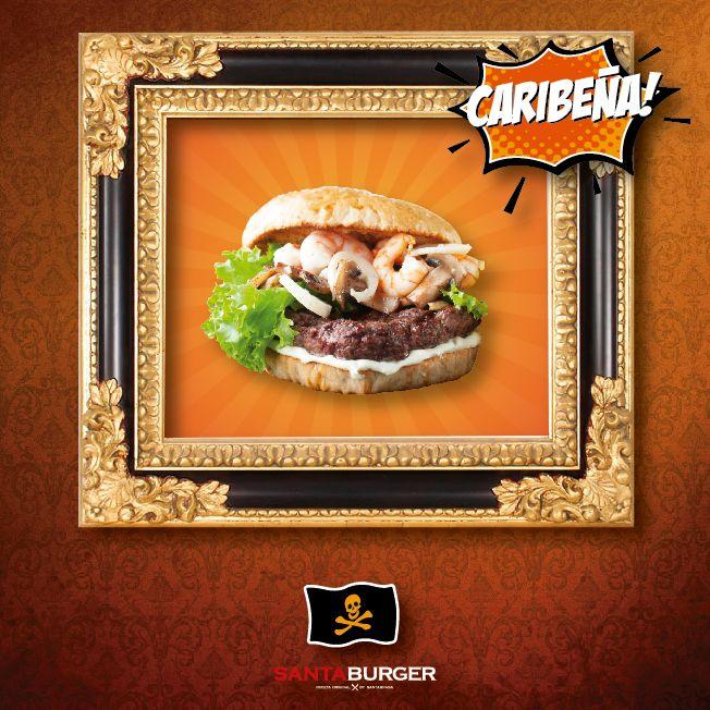Si digo Camarones y Champiñones al ron en qué piensas! Te doy una pista: Es burger y sólo un pirata de verdad podría devorarla! #LocosporlasBurgers